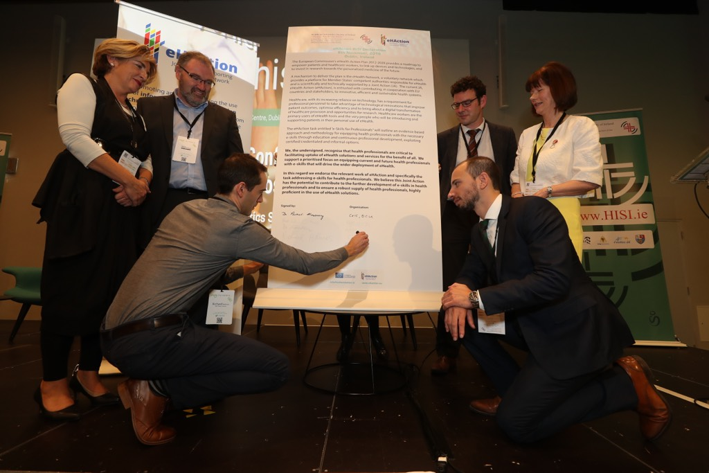 imagem do post do eHAction Declaration on eSkills for Professionals at 23rd HISI2018